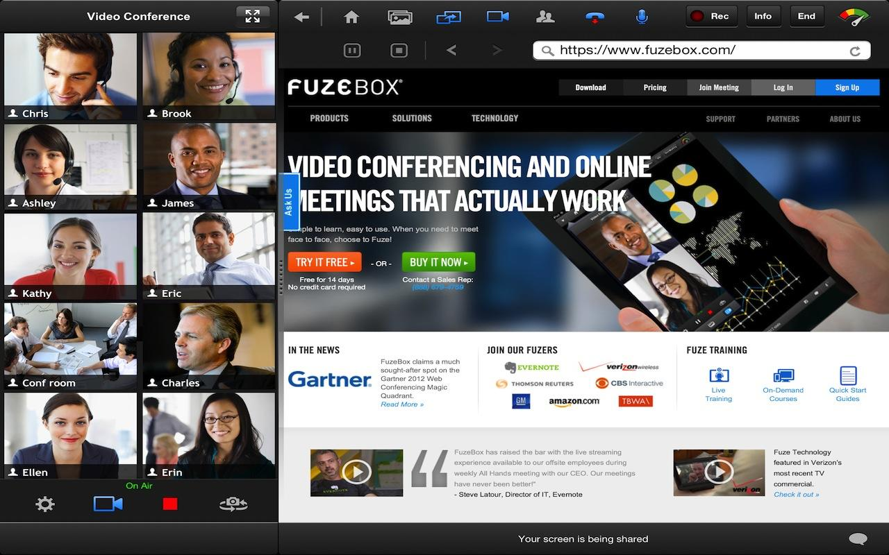 Fuze for Tablets - screenshot