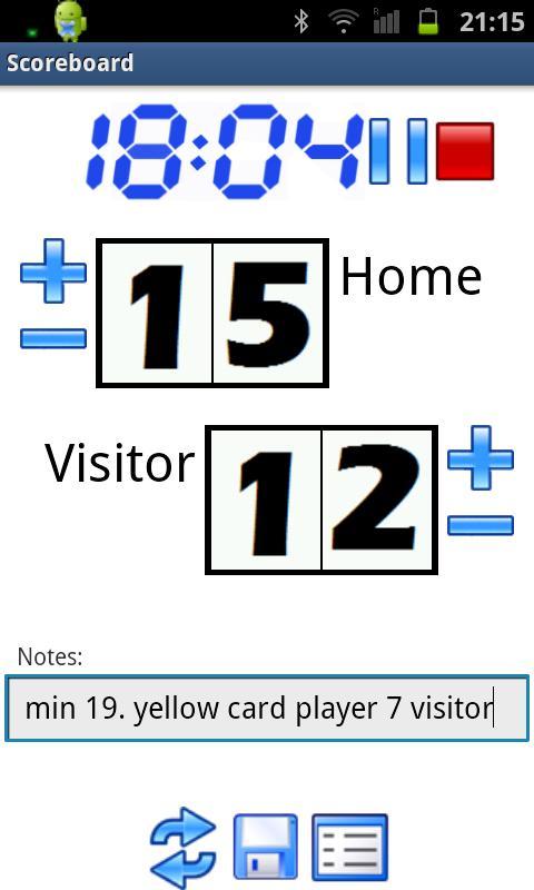 Scoreboard & Timer- screenshot