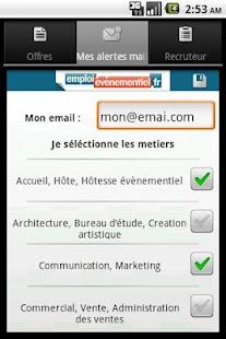 Emploi Événementiel- screenshot thumbnail