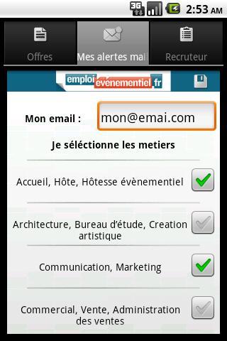 Emploi Événementiel- screenshot