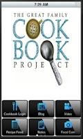 Screenshot of Family Cookbook Recipes