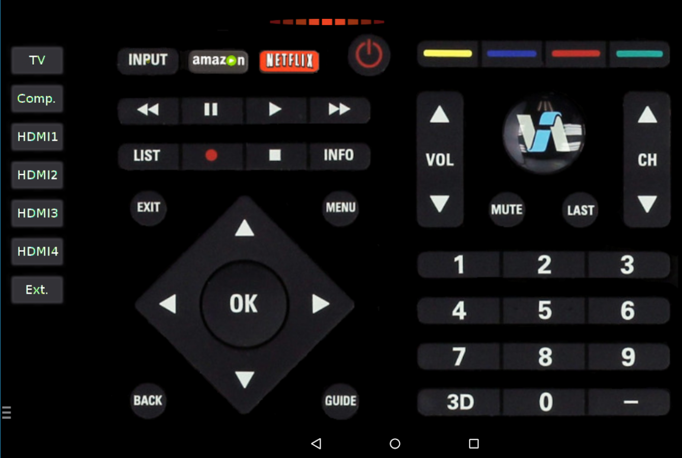 Phone App To Remote Control Android Phone vizremote tv remote control android apps on google play screenshot