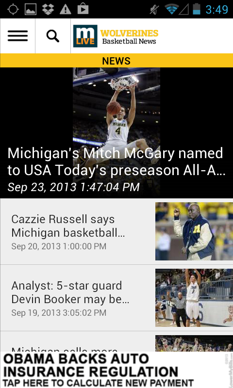 MLive.com: Michigan Hoops News - screenshot