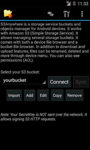 S3Anywhere (Amazon S3 cloud) 2.4 screenshots 3