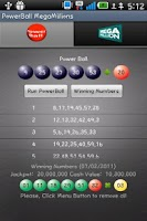 Screenshot of Powerball & MegaMillions