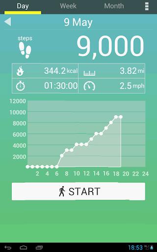 Pedometer screenshot
