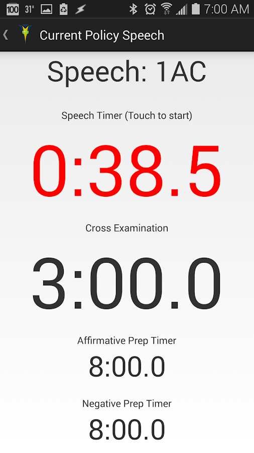 Ultimate Debate Timer- screenshot