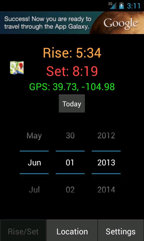 Sunrise Sunset Calculator Free - screenshot