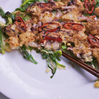 Seafood Pancakes (haemul Pajeon).