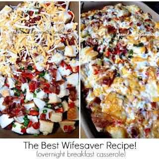 Overnight Breakfast Casserole! The Best Wifesaver Recipe!