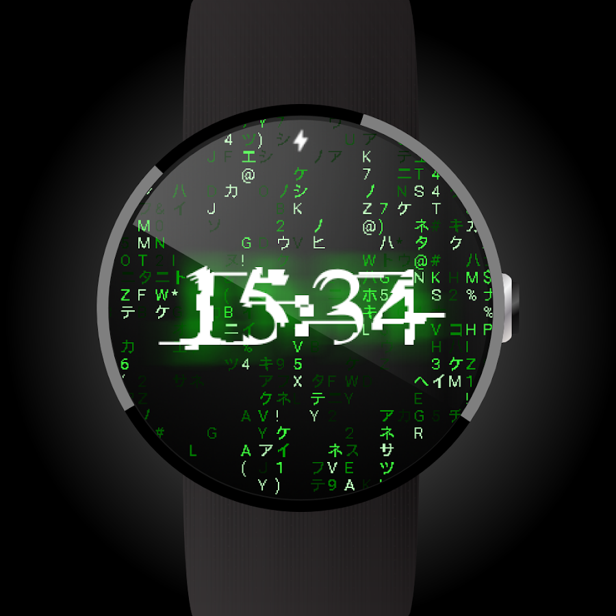 Matrix face for Android Wear- screenshot