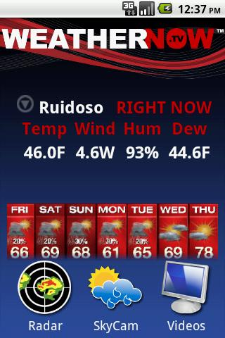 Ron Roberts Weathernow- screenshot