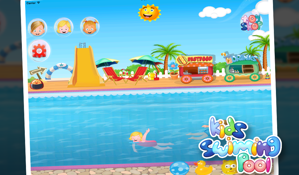 Kids Swimming Pool for Girls- screenshot