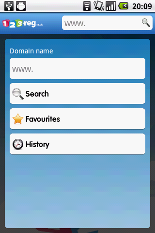 123-reg Domains App- screenshot