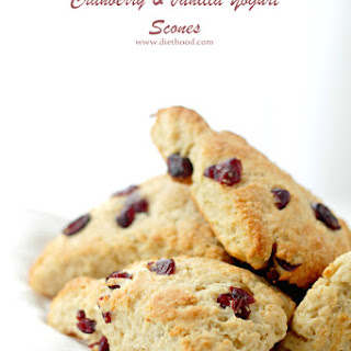 Cranberry and Vanilla-Yogurt Scones