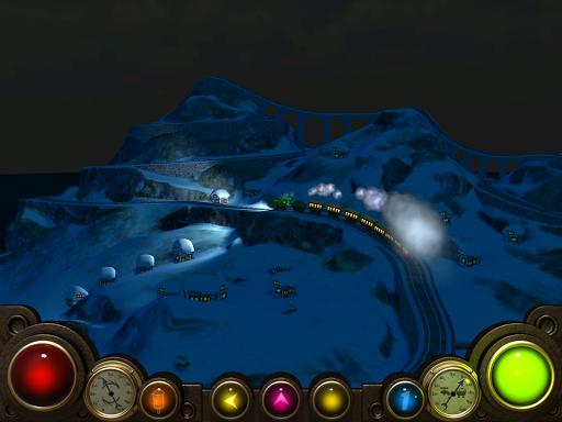 山の列車3D