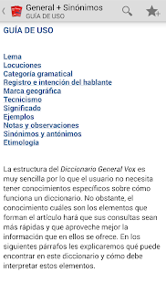 VOX General Spanish +Thesaurus - screenshot thumbnail