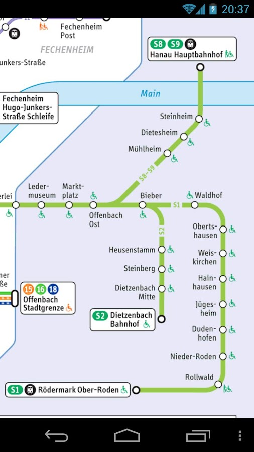 Frankfurt Transport Map Free - screenshot