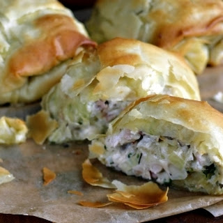 Turkey Strudel with Wild Mushrooms and Chestnuts