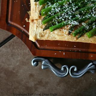 Asparagus Phyllo Tart.