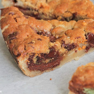 Skillet Baked Candy Bar Stuffed Double Cookie Recipe