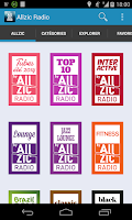 Screenshot of Allzic Radio