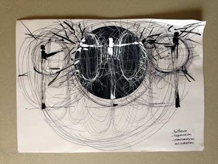 """<p> <a href=""""http://www.jamiegriffiths.com/posthumancondition/""""><strong>TransCuerpo Posthumano</strong></a> by Jamie Griffiths & Annalisa Terranova (interactive system design), Jesica Lewitt (animation/drawing), Mauro Politto & Donato Panacio (Music Composition).</p> <p> <em>Argentinian Residency Festival May 5-23 2014 London-Buenos Aires</em></p>"""