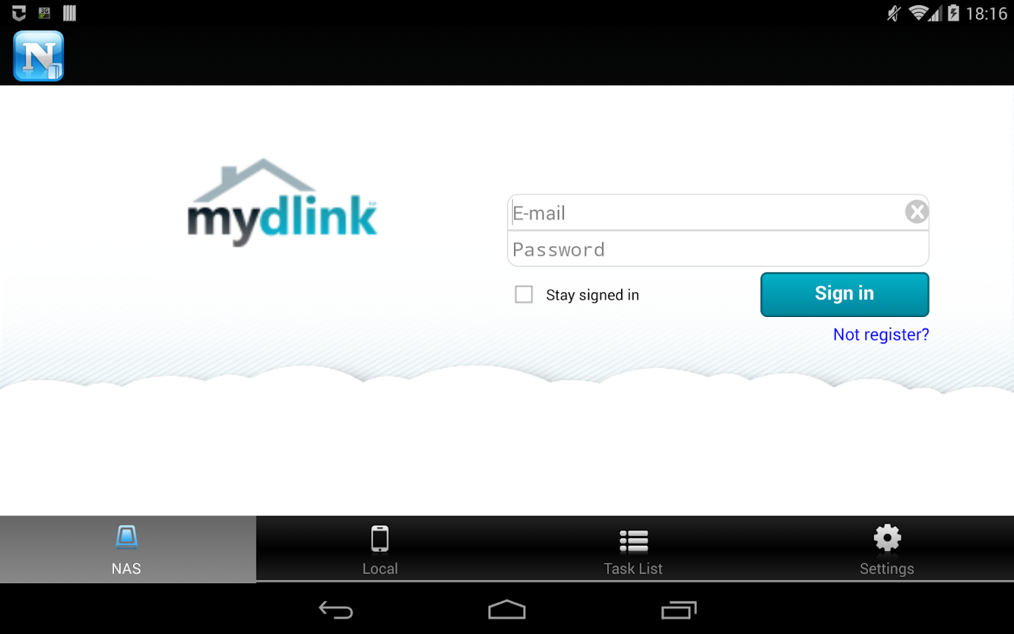 mydlink Access-NAS - screenshot