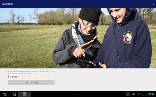 ScoutLink IRC- screenshot thumbnail