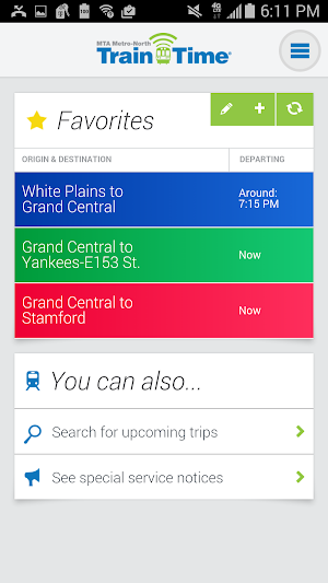 0 Metro-North Train Time App screenshot