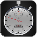 Stopwatch and timer with laps icon