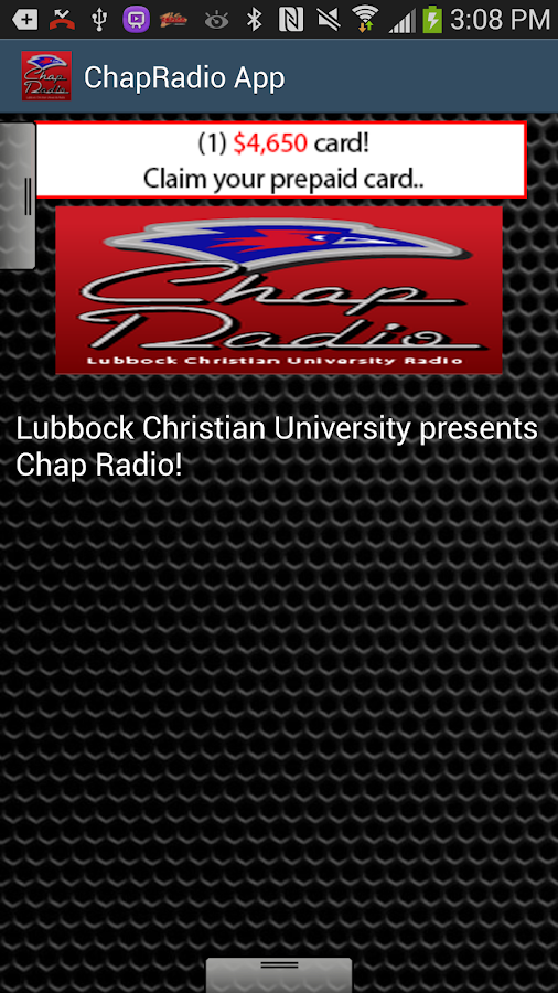 ChapRadio App - screenshot