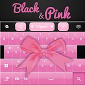 Black and Pink Keyboard Free