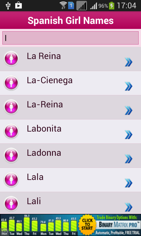 Spanish Baby Names Meaning Screenshot
