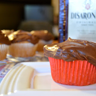 Disaronno Cupcakes with Whipped Ganache Frosting {Gluten Free & Vegan}