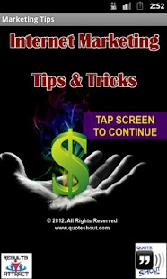 Internet Marketing Tips - screenshot thumbnail