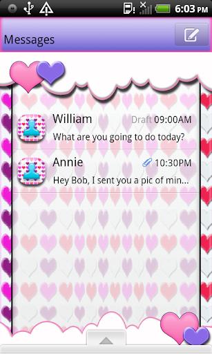 SweetHeart4U GO SMS THEME
