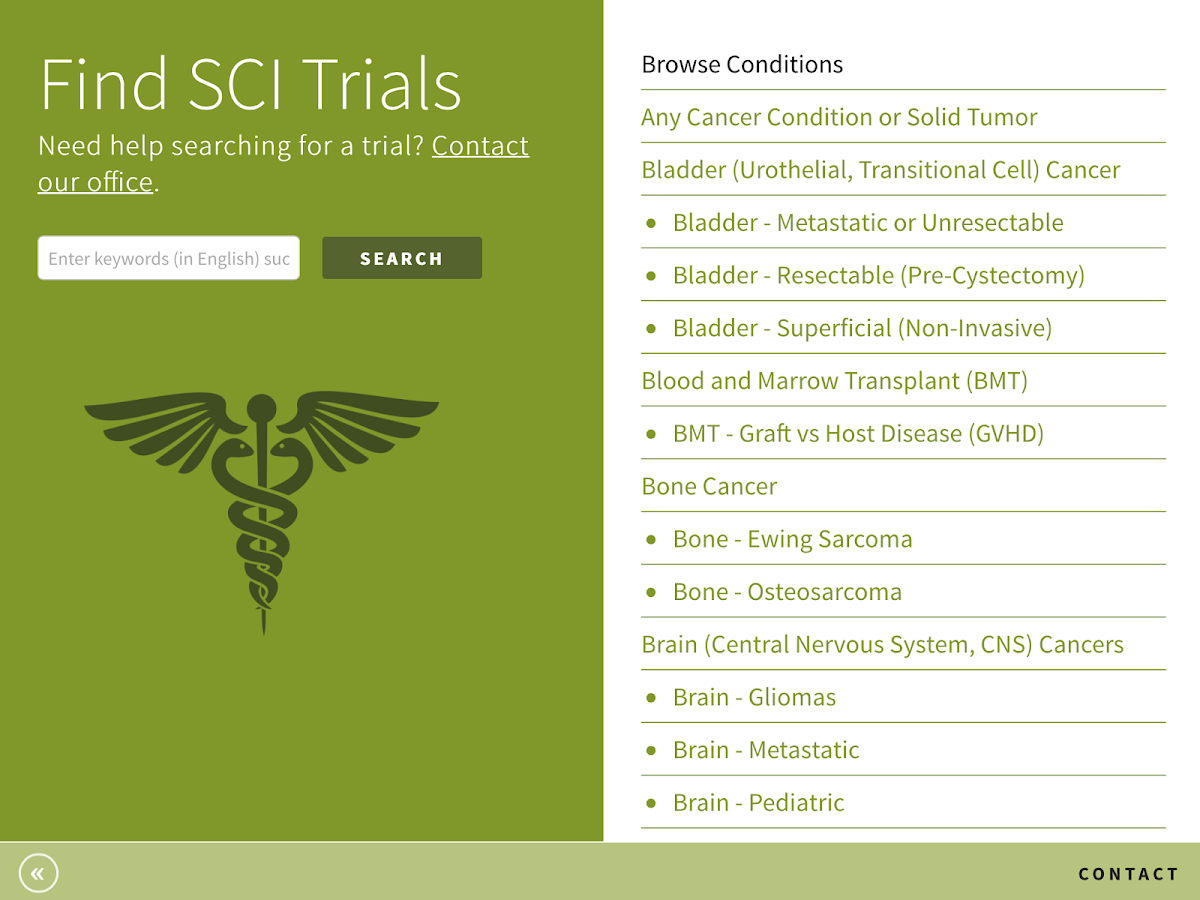 SCI Trials- screenshot