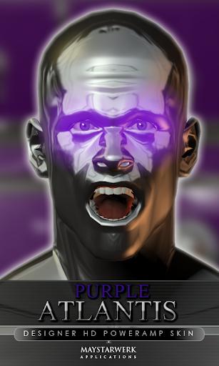 poweramp skin purple atlantis