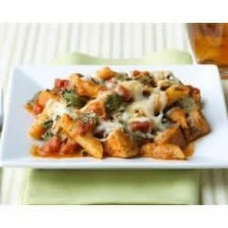 Three Cheese Chicken Penne Pasta Bake.