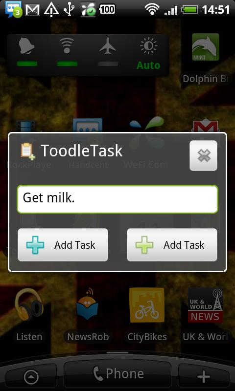 ToodleTask- screenshot