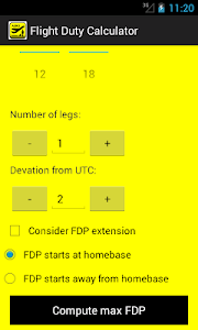 Flight Duty Calculator v1.11