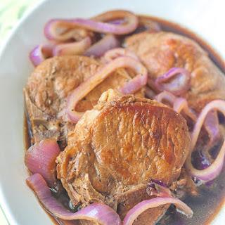 Filipino Pork Chop Steak.