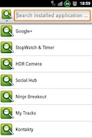 Screenshot of Application Quick Launch