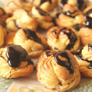 Profiteroles or Cream Puffs.