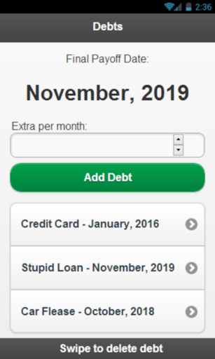 Simple Debt Snowball Debt