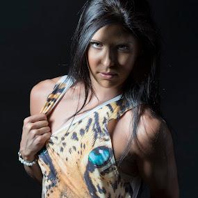 Predator Woman by Daniel Craig Johnson - People Portraits of Women ( studio, portrait photographers, portraits of women, lighting, portrait,  )
