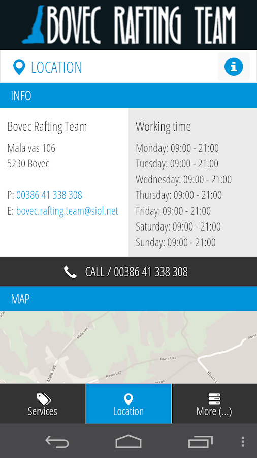 Bovec Rafting Team- screenshot