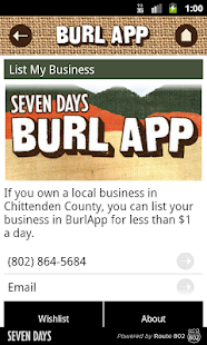 BurlApp - Burlington, VT - screenshot thumbnail