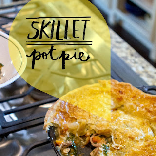 Chicken and Sweet Potato Skillet Pot Pie.